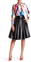 Gracia Faux Leather Flare Skirt