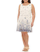 Robbie Bee Sleeveless Lace Floral Sheath Dress-Plus