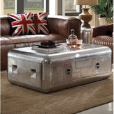 Lottie Trunk Aluminum Coffee Table with Storage 17 Stories