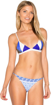 SKYE & staghorn Medina Beaded Tri Bikini Top