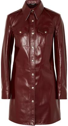 Calvin Klein Leather Mini Dress