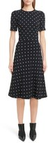 Givenchy Women's Imitation Pearl Embellished Lily Print Dress