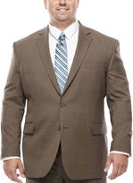 STAFFORD Stafford Travel Stretch Brown Sharkskin - Big & Tall Jacket