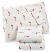 Martha Stewart Whim Collection 100% Cotton Sheet Set Pink Flamingos Queen