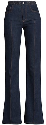 Chloé Recycled Stretch-Flare Jeans