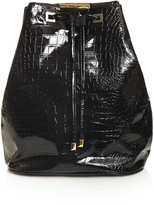 Topshop Patent Croc Backpack