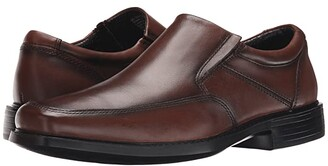 Dockers Park Moc Toe Slip-On (Dark Tan Burnished Full Grain) Men's Slip-on Dress Shoes