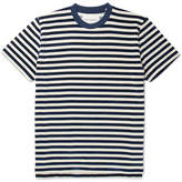 Our Legacy Striped Cotton-blend Velour T-shirt