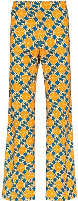 Gucci Printed Wide-Leg Trousers