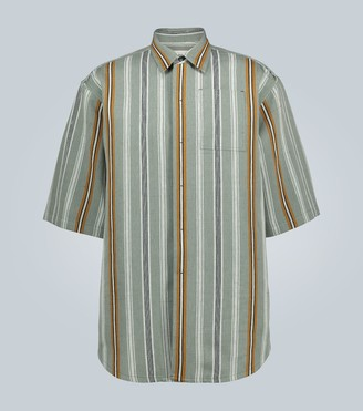 Jil Sander Linen-blend short-sleeved shirt