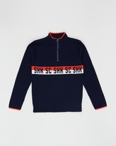 Scotch Shrunk Half-Zip Pullover Intarsia Sweater - Teens