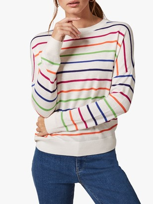 Phase Eight Tila Pop Stripe Knit, White/Multi