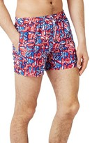 Topman Men's Usa Print Swim Trunks