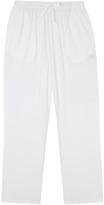 Derek Rose Basel Navy Jersey Lounge Trousers