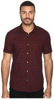 John Varvatos Slim Fit Sport Shirt with Cuffed Short Sleeves W443S4B