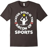 Women's FUNNY WATER POLO BACON OF SPORTS T-SHIRT School Sport Gift Large