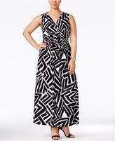 INC International Concepts Plus Size Zebra-Print Maxi Dress, Only at Macy's