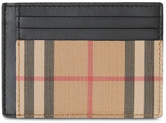 Burberry Vintage Check and Leather Money Clip Card Case