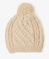 Pearlescent Cable Knit Hat