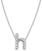 KC Designs White Gold Diamond Letter H Necklace