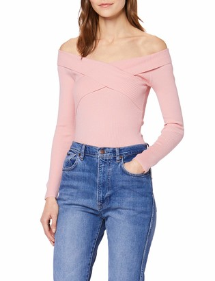 Miss Selfridge Women's Bardot Rib TOP Sweater