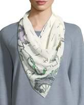 Rag & Bone Floral Camo Silk Dagger Scarf