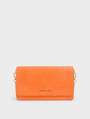 Charles & Keith Croc-Effect Clutch