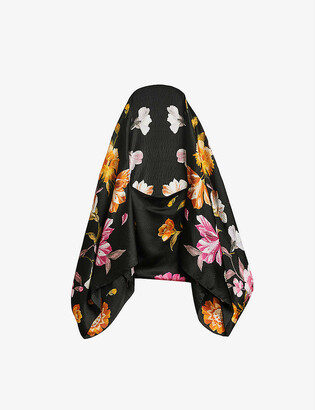 Ted Baker Rhubarb floral-print woven cape dress