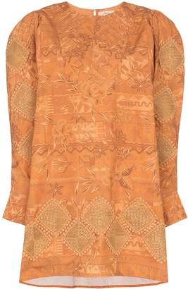 Chufy Miski printed embroidered dress
