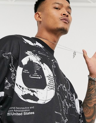 ASOS DESIGN Nasa oversized t-shirt with astrological all over print