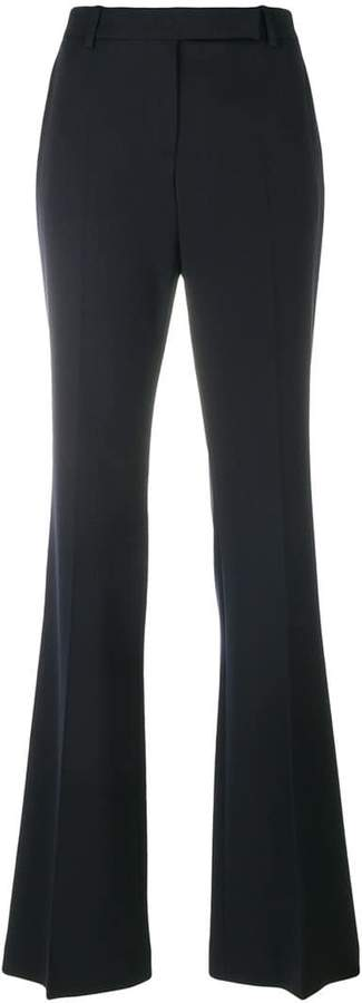 Alexander McQueen flared pleated trousers