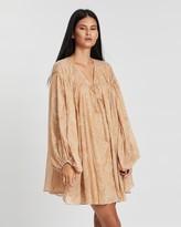 Shona Joy Monroe Oversized Smock Mini Dress with Slip