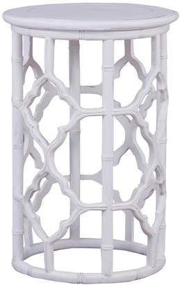 Ctr Imports Trellis Side Table White