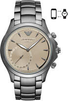 Emporio Armani Men's Connected Gray Stainless Steel Bracelet Hybrid Smart Watch 43mm