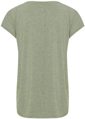 Ichi Metallic T-Shirt in Hedge Green - L