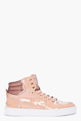 Yves Saint Laurent Nude Patent Malibu Sneakers