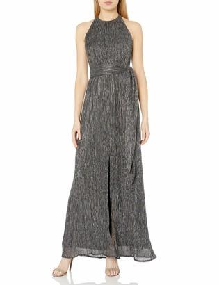 Halston Women's Metallic Jersey Gown