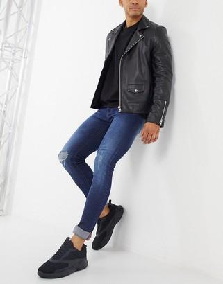 Criminal Damage jonboy skinny fit jean in blue wash