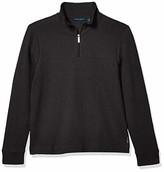 Perry Ellis Men's Ottoman Rib Knit Quarter-Zip Long Sleeve Shirt