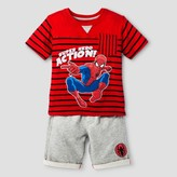 Disney Toddler Boys' Spider-Man Top And Bottom Set - Red