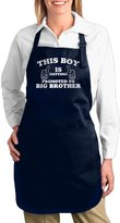 """PLIOFU Attitude Aprons Fully Adjustable """"Little Boys' This Boy Is Getting Promoted To Big Brother"""" Apron With Pocket"""