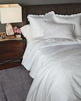 AERIN Queen White Ikat Duvet Cover