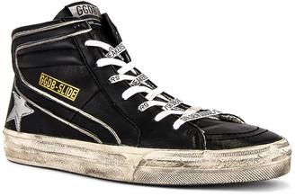 Golden Goose Slide Sneaker in Black & Metal Silver | FWRD