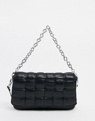 Aldo Wynonna quilted shoulder bag with chain in black