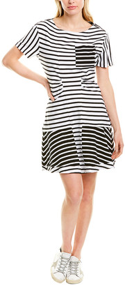 Derek Lam 10 Crosby Striped A-Line Dress