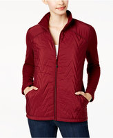 Style&Co. Style & Co Quilted Fleece-Contrast Jacket, Created for Macy's