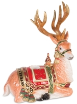 Fitz & Floyd Holiday Tidings Resting Deer Candleholder
