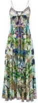 Camilla Leopard And Floral-print Silk Maxi Dress - Womens - White Print