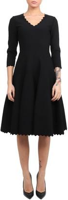 Alaia Azzedine Black Scalloped Dress