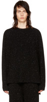 Baja East Black Rib Cashmere Fisherman Sweater